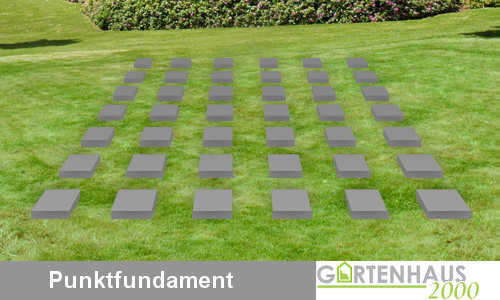 Gartenhaus Fundament - Punktfundament