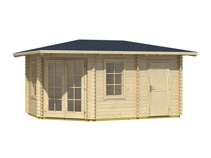 5 eck gartenhaus aruba 2b von lasita maja online kaufen. Black Bedroom Furniture Sets. Home Design Ideas