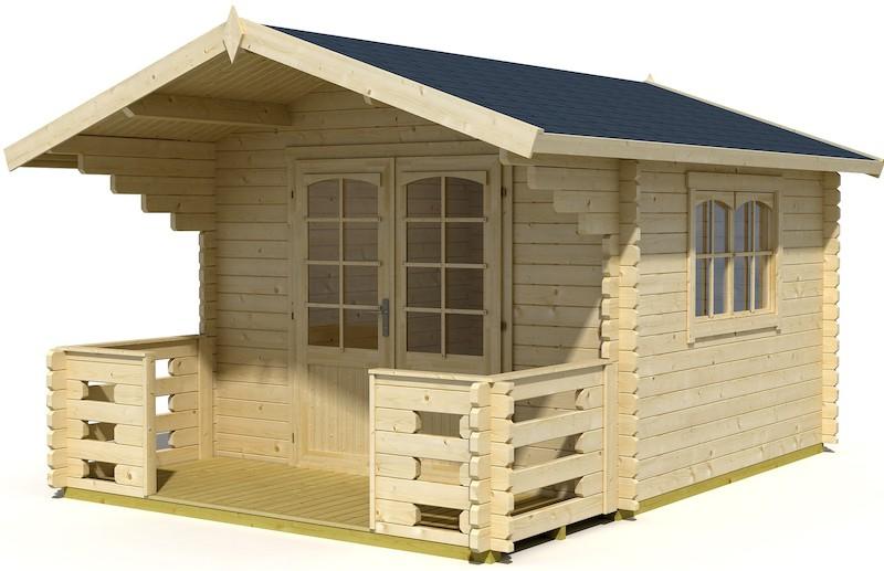 capri 40 gartenhaus mit veranda bei gartenhaus2000. Black Bedroom Furniture Sets. Home Design Ideas