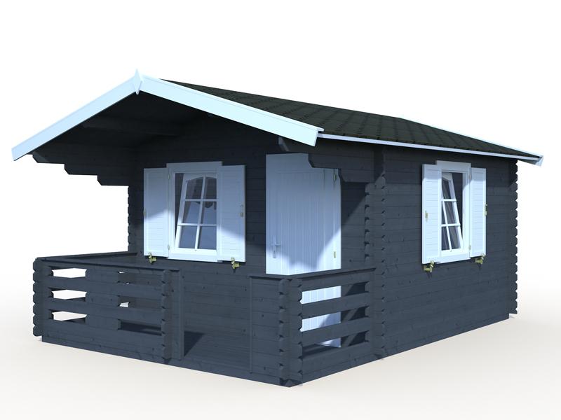Sylvi 10,4 u. 4,2m² Gartenhaus mit Terrasse von Palmako