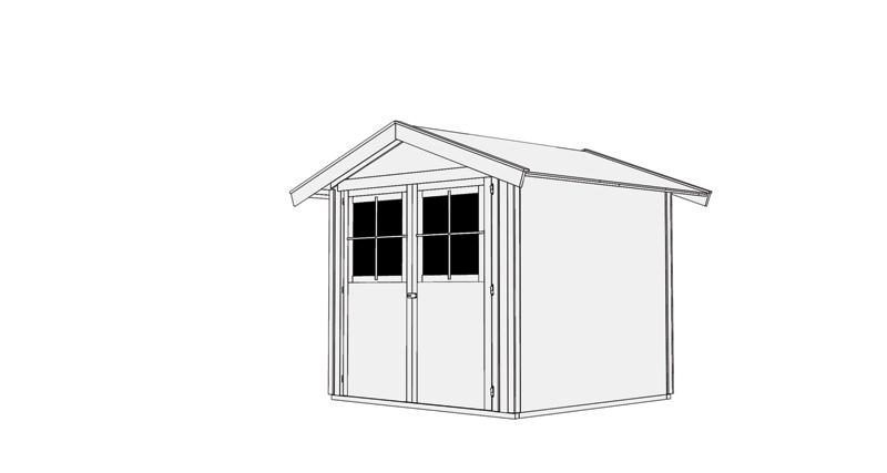 karibu ger tehaus harburg 3 mit schleppdach. Black Bedroom Furniture Sets. Home Design Ideas