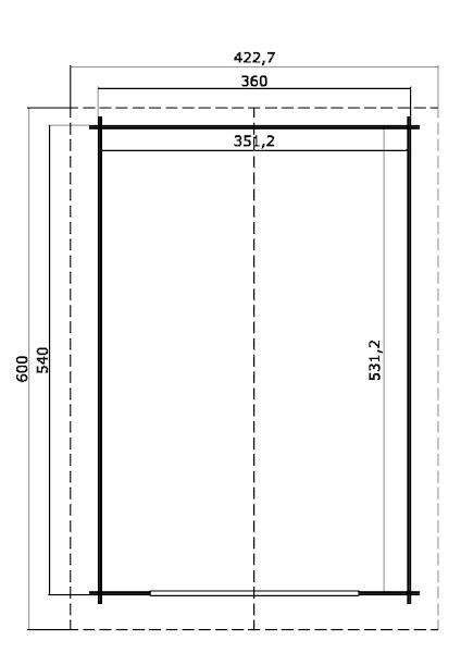 holzgarage antigua 44 mit doppeltor von lasita maja. Black Bedroom Furniture Sets. Home Design Ideas