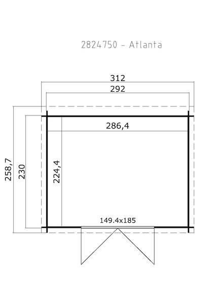 Gerätehaus mit Pultdach Atlanta bei Gartenhaus2000