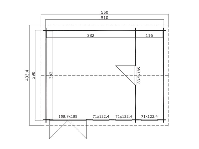 douro gartenhaus 2 r ume von lasita maja. Black Bedroom Furniture Sets. Home Design Ideas