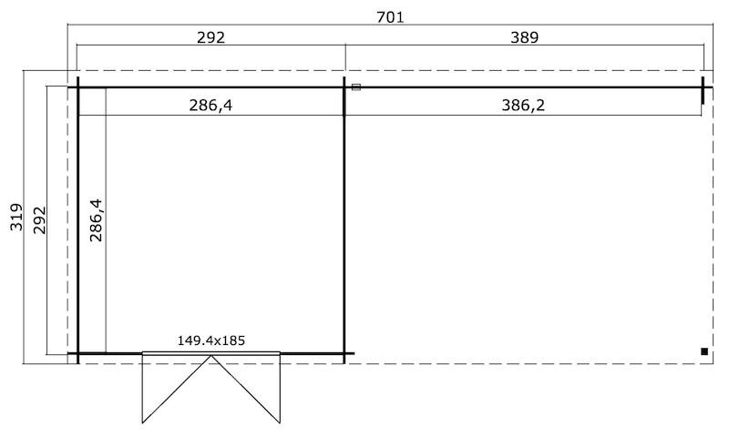 gartenhaus mit schleppdach st louis bei gartenhaus2000. Black Bedroom Furniture Sets. Home Design Ideas