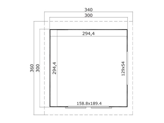 sumatra 7 gartenhaus mit schiebet r von lasita maja. Black Bedroom Furniture Sets. Home Design Ideas