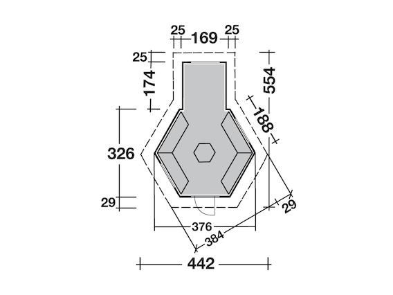 grillkota mit anbau gr n von wolff finnhaus. Black Bedroom Furniture Sets. Home Design Ideas