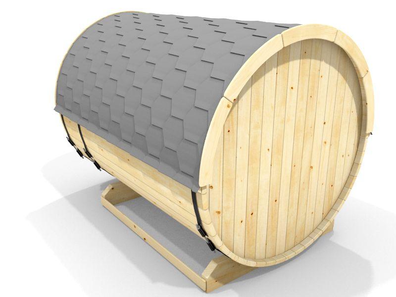 wolff finnhaus saunafass 280 als bausatz schwarz. Black Bedroom Furniture Sets. Home Design Ideas