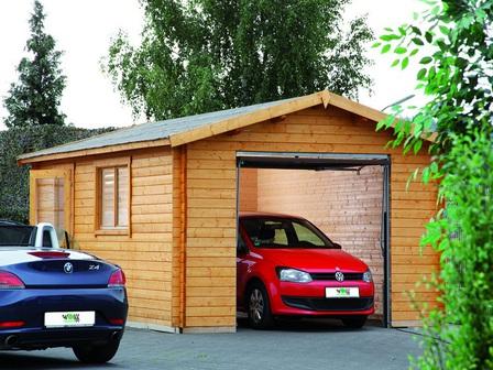 eine holzgarage als nat rliche garage gartenhaus2000 online magazin. Black Bedroom Furniture Sets. Home Design Ideas