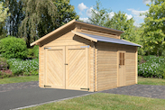 Garage 28mm BB Stufendach (naturbelassen)