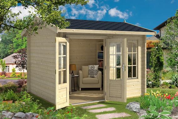 holz gartenhaus alex online kaufen bei gartenhaus2000. Black Bedroom Furniture Sets. Home Design Ideas