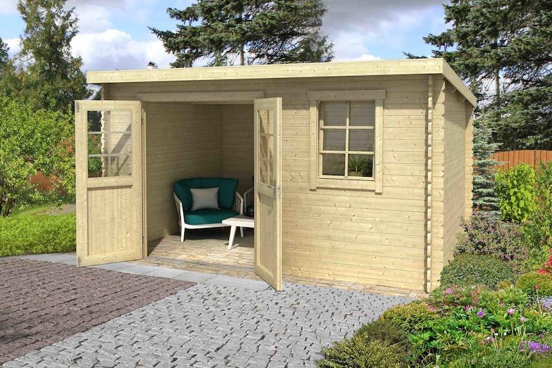 gartenhaus amira 275 bei gartenhaus2000. Black Bedroom Furniture Sets. Home Design Ideas