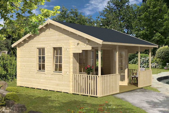 borneo gartenhaus mit terrasse von lasita maja kaufen. Black Bedroom Furniture Sets. Home Design Ideas