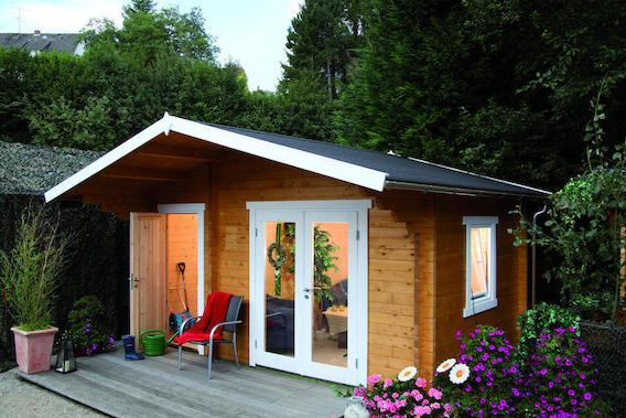 2 raum gartenhaus caro 58 d online kaufen. Black Bedroom Furniture Sets. Home Design Ideas