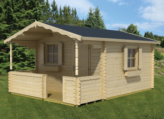 corsica 44 gartenhaus mit veranda von lasita maja. Black Bedroom Furniture Sets. Home Design Ideas