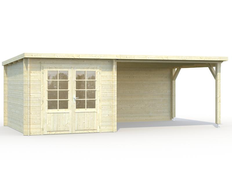 gartenhaus ella 6 9 10 0m mit seitendach bei gartenhaus2000. Black Bedroom Furniture Sets. Home Design Ideas