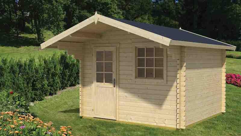 gartenhaus gotland 1b mit vordach von lasita maja. Black Bedroom Furniture Sets. Home Design Ideas