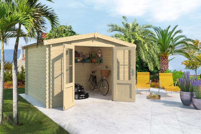 gartenhaus houston bei gartenhaus2000 online kaufen. Black Bedroom Furniture Sets. Home Design Ideas