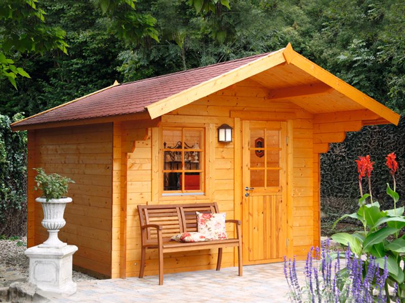 Monika 34 b gartenhaus mit vordach bei gartenhaus2000 - Gartenhaus 2000 ...