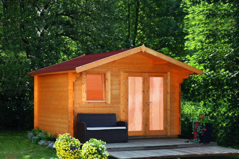 Wohnzimmer und Kamin gartenhäuser planen : Gartenhaus Oslo 34G Modern bei Gartenhaus2000