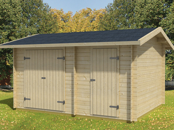 tuvalu 2 gartenhaus mit zwei r umen von gartenhaus2000. Black Bedroom Furniture Sets. Home Design Ideas