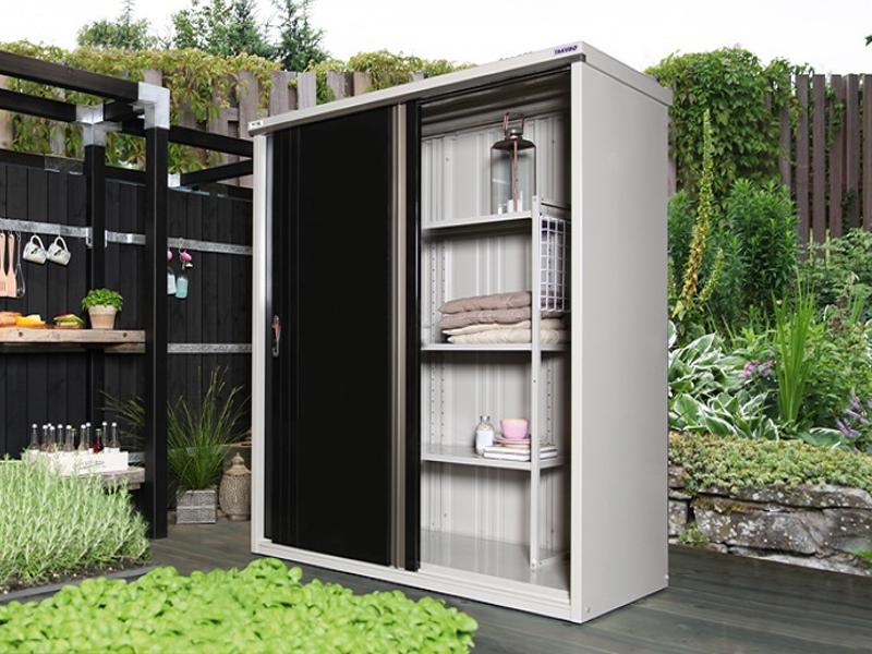 metallgartenschrank 177 aus der wolff comfort line. Black Bedroom Furniture Sets. Home Design Ideas