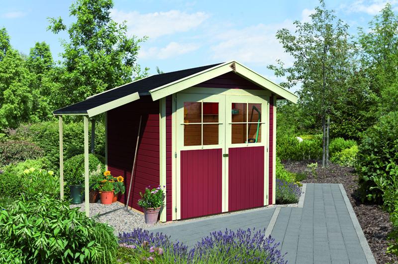 super karibu gartenhaus mit schleppdach iv62 kyushucon. Black Bedroom Furniture Sets. Home Design Ideas