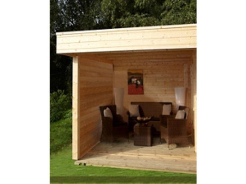 zusatzpaket geschlossene wand maja bei gartenhaus2000. Black Bedroom Furniture Sets. Home Design Ideas